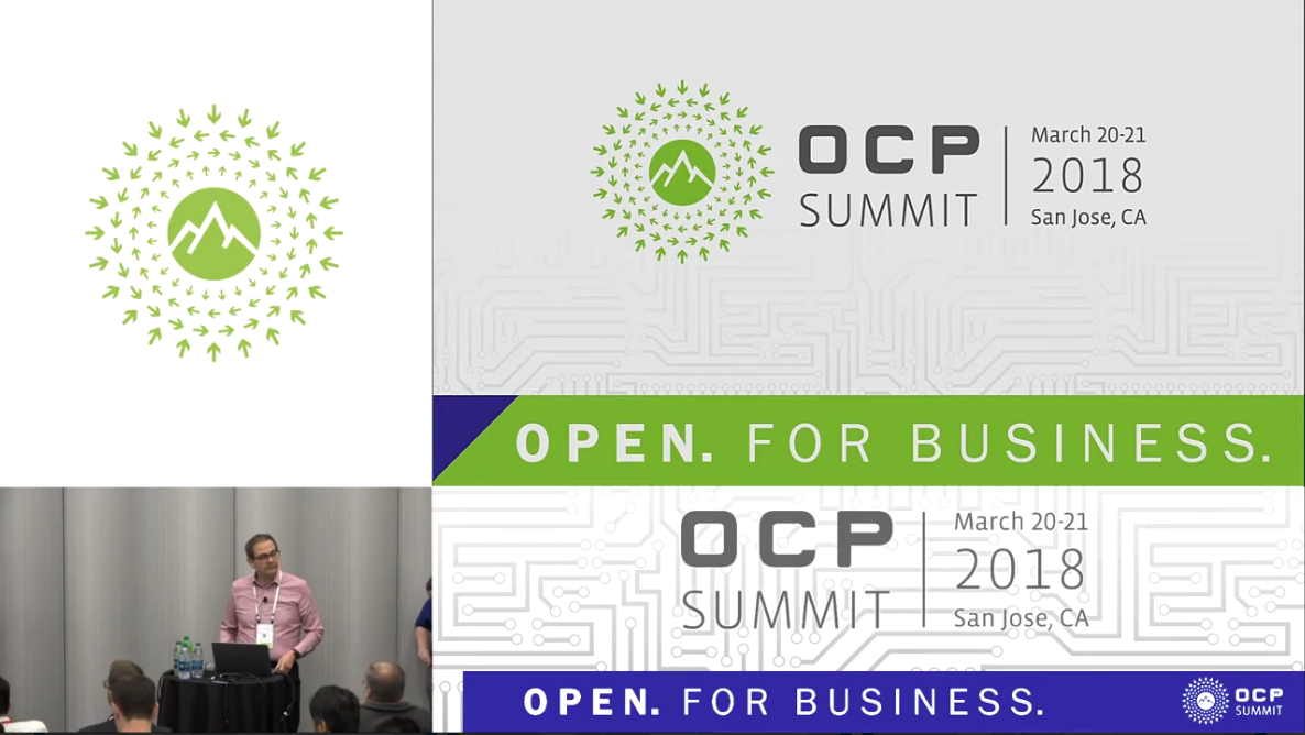 Allan Cantle speaking at the 2018 OCP Summit on Accelerating Flash Memory with the High Performance, Low Latency, OpenCAPI Interface