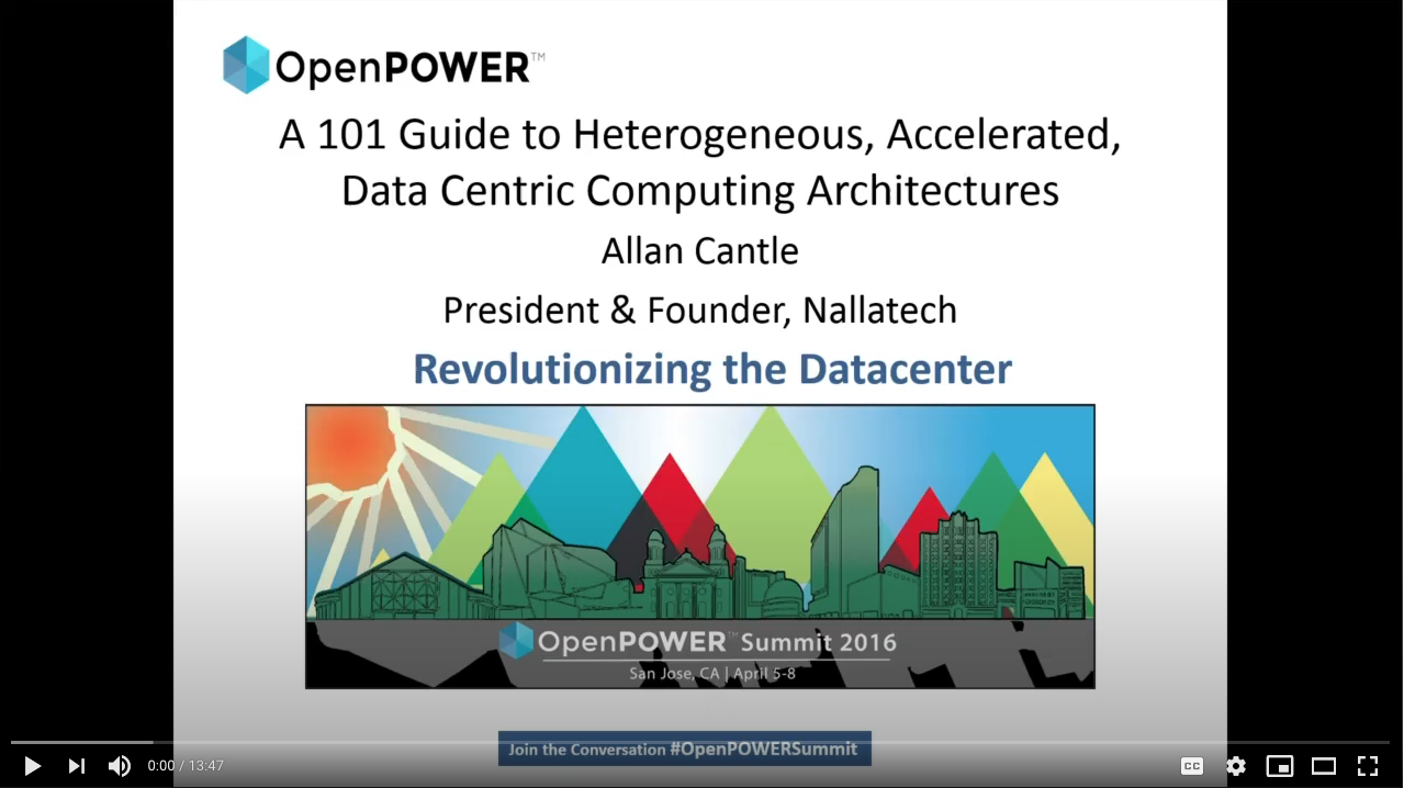Allan Cantle Speaking at the OpenPower Summit 2016