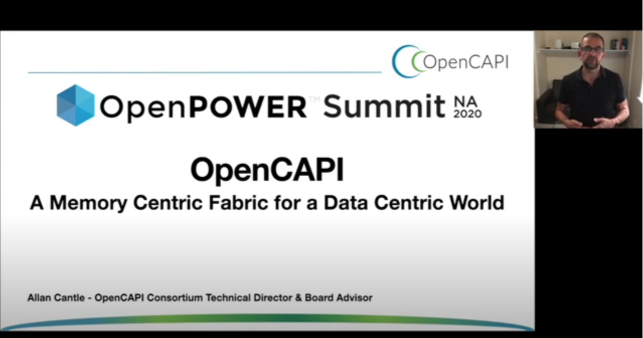 OpenPower Summit with Speaker Allan Cantle discussing the need for a new Memory Centric Fabric for a Data-Centric World