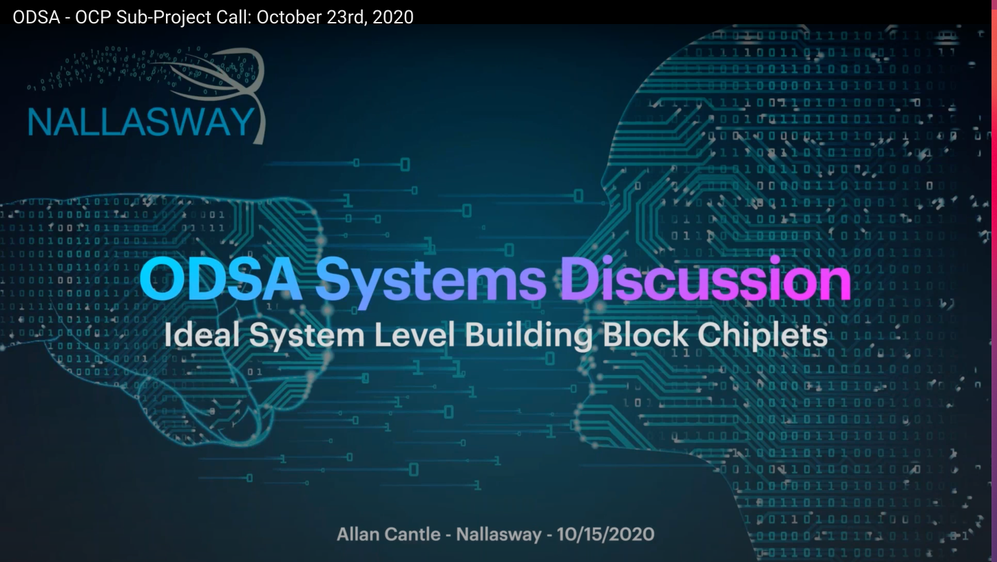 OCP ODSA Subproject System Discussion with Allan Cantle